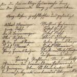 Unterschriften der Gründer